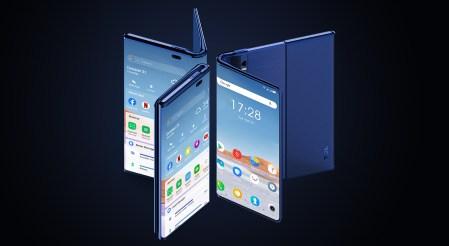 TCL показала концепт складного смартфона Fold 'n Roll, он может трансформироваться между версиями 6,87, 8,85 и 10 дюймов