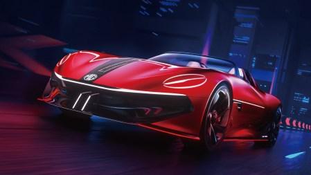 Концепт электрического двухместного спорткара MG Cyberster обещает разгон до 100 км/ч менее, чем за 3 сек и запас хода 800 км