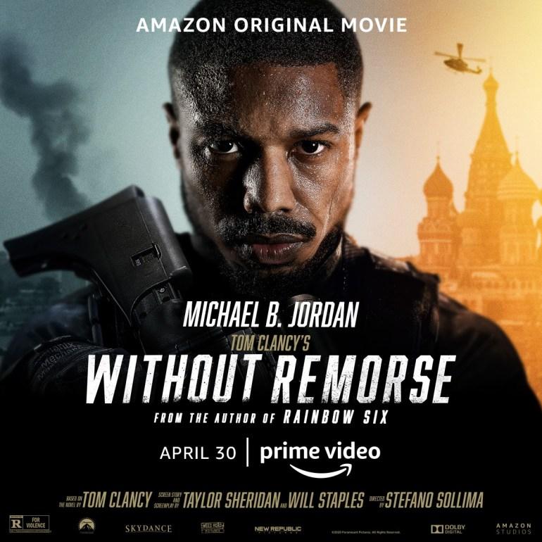 Финальный трейлер боевика Without Remorse / «Без жалости» по роману Тома Клэнси о Джоне Кларке из Rainbow Six (премьера 30 апреля 2021 года)