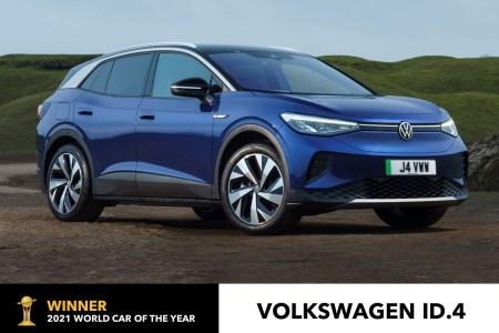 Электромобиль Volkswagen ID.4 получил награду «Всемирный автомобиль года 2021» (World Car of the Year 2021)