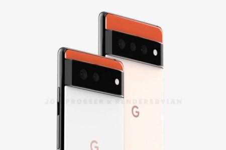 В сети появились изображения Google Pixel 6 и Pixel 6 Pro в принципиально новом дизайне — с трехцветной схемой и выступающим горизонтальным блоком камер