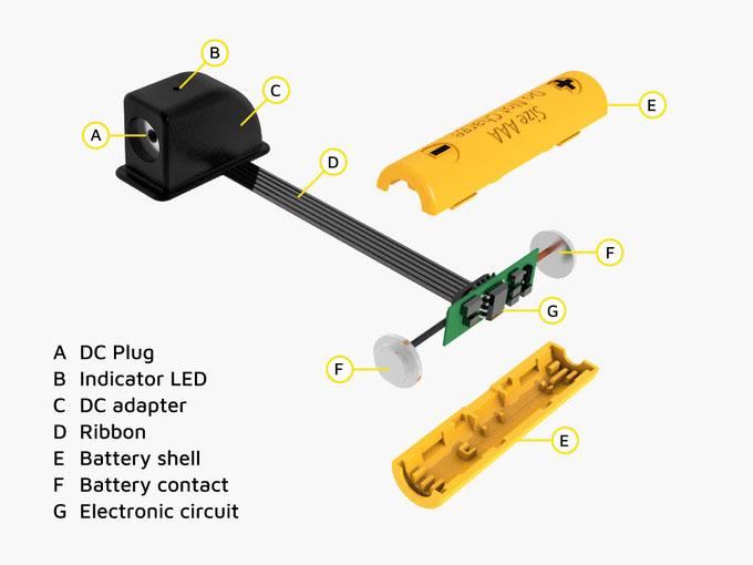 Проект ReVolt предлагает отказаться от одноразовых батарей и снабжать портативные устройства энергией от других источников: розеток, павербанков и т.д