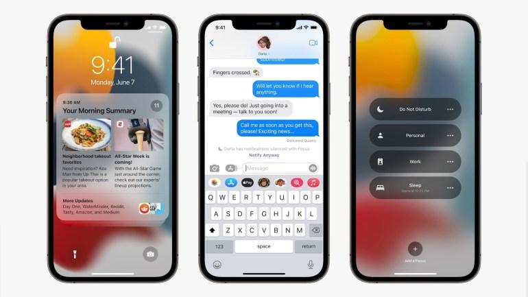 Apple представила iOS 15 — с редизайном уведомлений, набором режимов концентрации Focus и распознаванием текста на фото Live Text