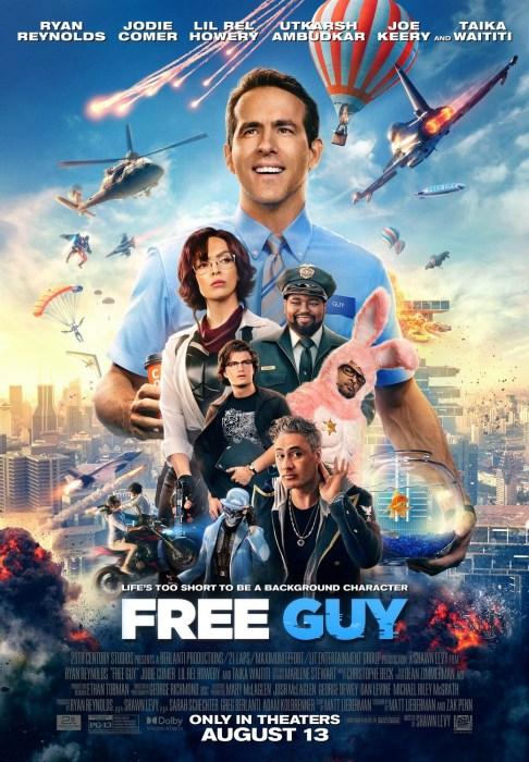 Вышел новый трейлер комедийного боевика Free Guy / «Персонаж» с Райаном Рейнольдсом в роли игрового NPC (премьера - 13 августа)