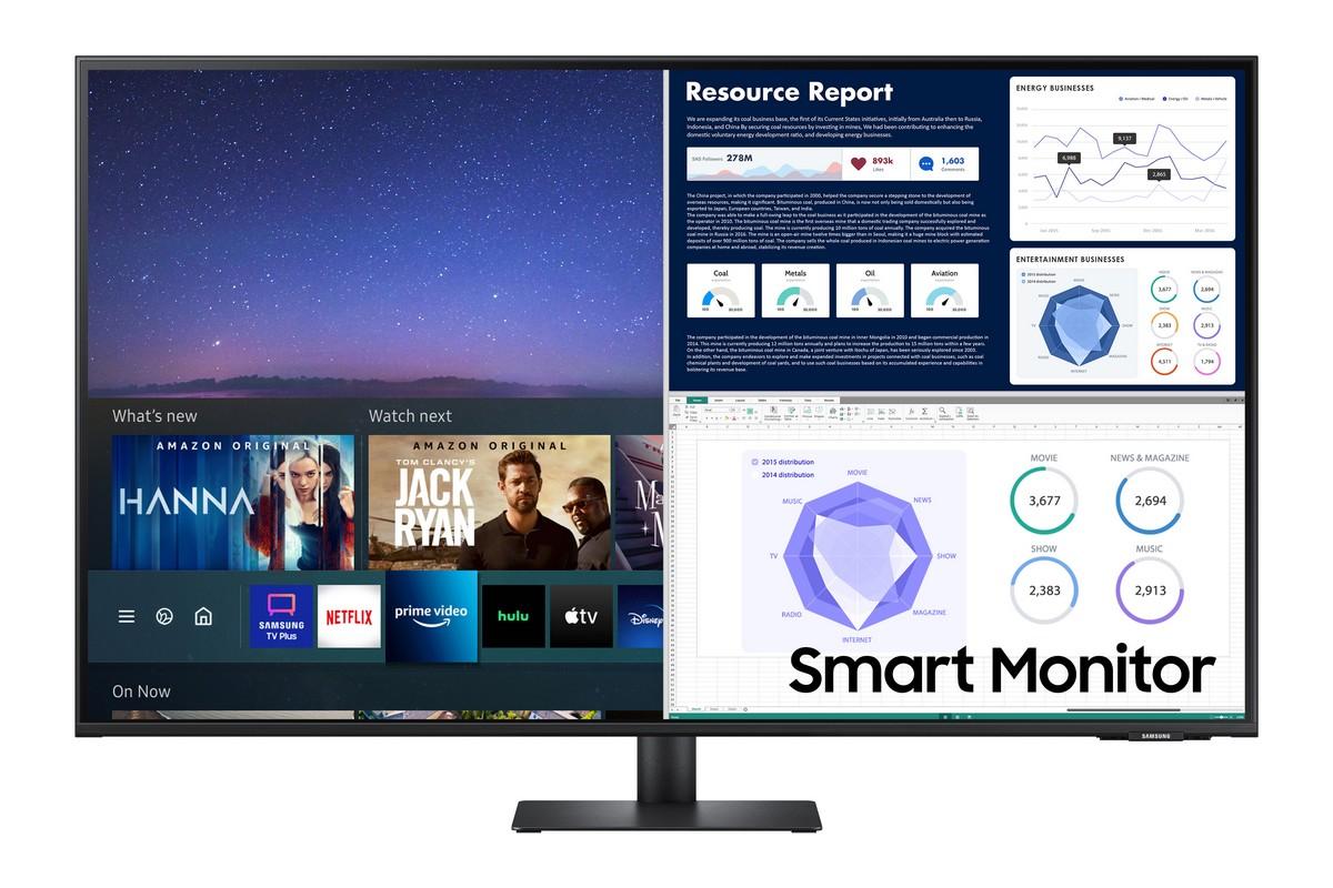 Samsung розширила лінійку універсальних дисплеїв Smart Monitor — з'явилась 43-дюймова версія M7, а M5 тепер доступна у білому кольорі - ITC.ua