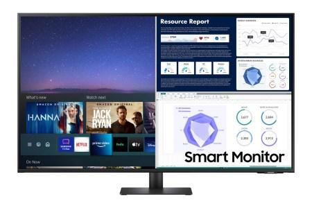 Samsung розширила лінійку універсальних дисплеїв Smart Monitor — з'явилась 43-дюймова версія M7, а M5 тепер доступна у білому кольорі