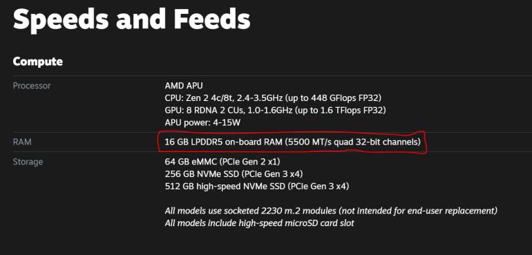 Новые подробности о Valve Steam Deck: приостановка игр без сохранения (как на консолях), возобновление игры с того же места на ПК и четырехканальная LPDDR5 со скоростью 5500 МТ/с