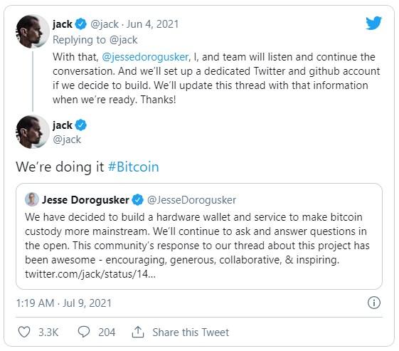 Square планирует создать аппаратный кошелёк Bitcoin