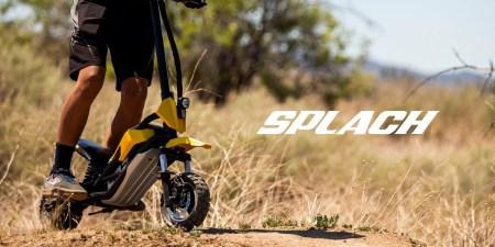 В США представили внедорожный электросамокат-двухподвес Splach Transformer в стиле минибайка стоимостью от $1,099