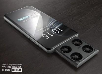На концептуальных рендерах показали смартфон Vivo со встроенным дроном с камерой