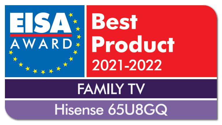 Hisense U8GQ визнано найкращим сімейним телевізором за версією EISA