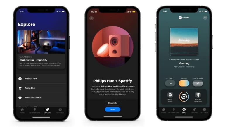 Лампы Philips Hue получили интеграцию с сервисом Spotify