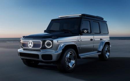 Немцы показали концепт «электрического кубика» Mercedes-Benz EQG с четырьмя электродвигателями