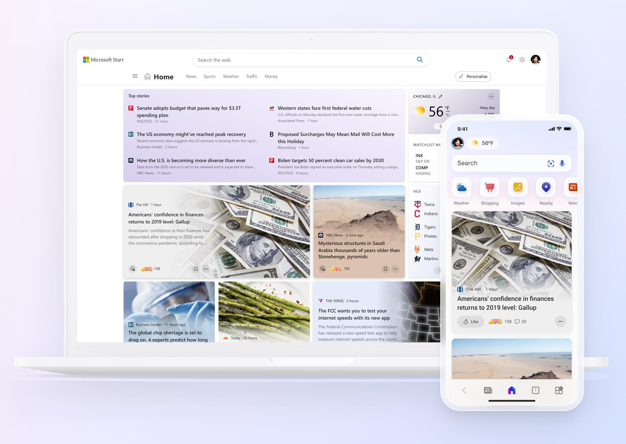Microsoft Start — новая персонализированная лента новостей для Windows 11, мобильных платформ и онлайн-доступа - ITC.ua