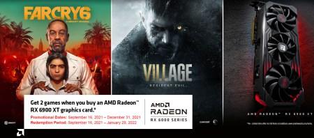 AMD дарує Far Cry 6 та Resident Evil Village при купівлі відеокарти Radeon RX 6900 XT ( ͡° ͜ʖ ͡°)