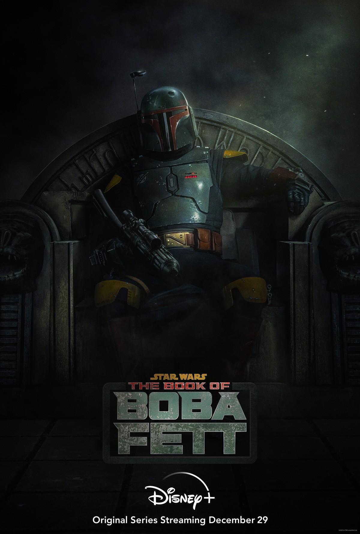«Книга Бобы Фетта»: премьера назначена на 29 декабря (the book of boba fett poster)