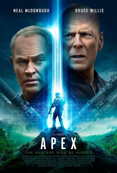 """Брюс Уиллис опять снялся в низкобюджетном фантастическом боевике - это """"Apex"""" / """"Преступный квест"""" о королевской битве, который выйдет 12 ноября 2021 года [трейлер]"""