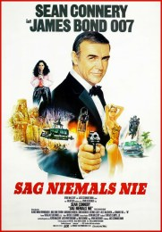 Never Say Never Again German James Bond 007 poster Sean Connery Sag Niemels Nie