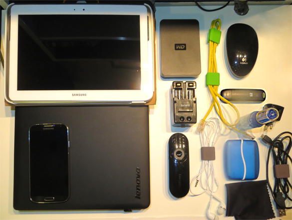 Typical IT Consultant Bag Contents