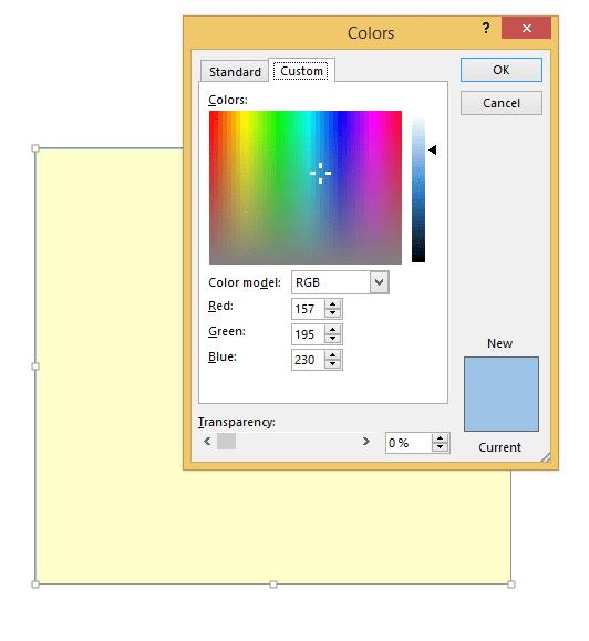 Step 2- Add light blue lines