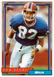 Don Beebe had a long and successful NFL career due to his speed.