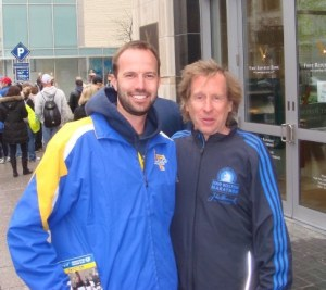 On my way out of the race expo, I saw four-time Boston Marathon champion Bill Rodgers.