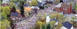 Imagine 25,000 runners lining up on Main Street in your home town.