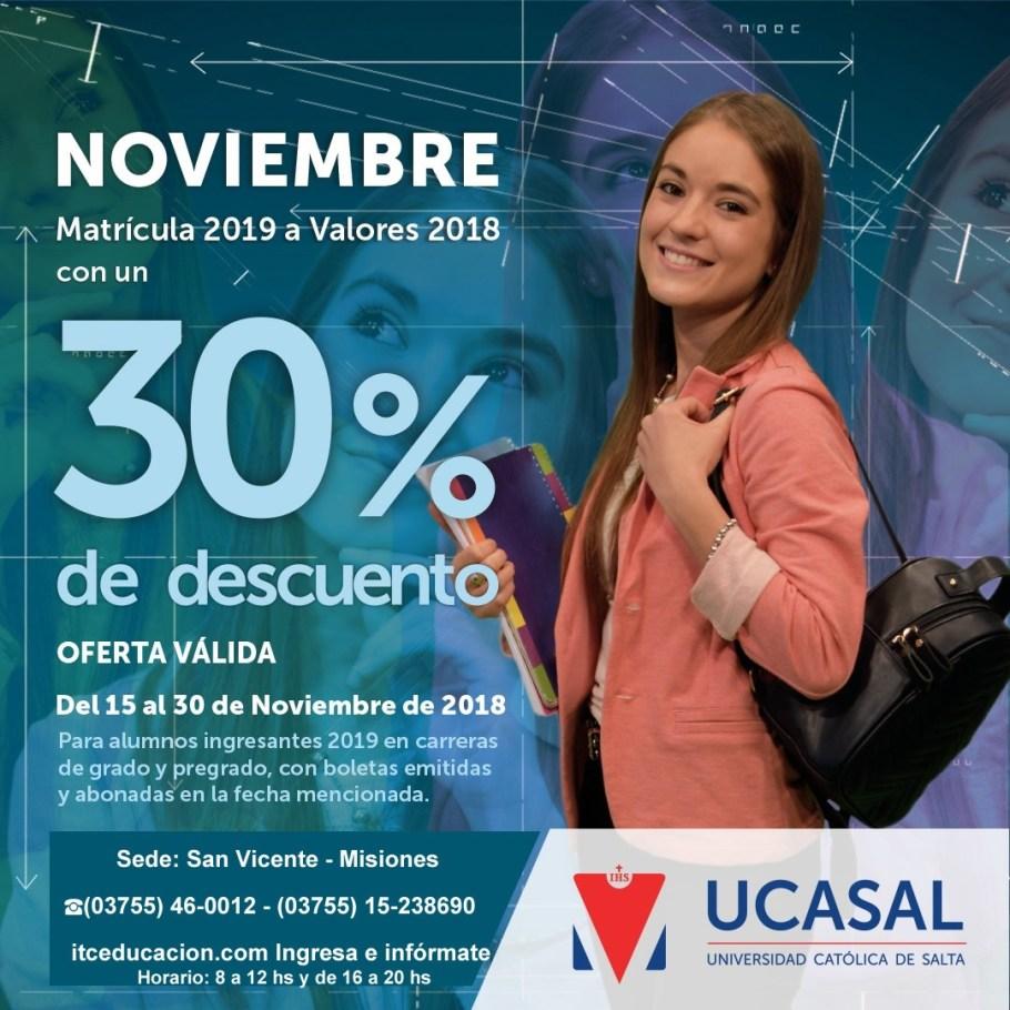 UCASAL 30 %