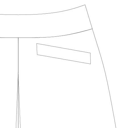 Emily Culottes PDF Pattern Slanted Welt Pocket
