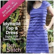 Itch to Stitch Digital Sewing Pattern Ad Idyllwild 2 300 x 300
