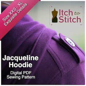 Itch to Stitch Digital Sewing Pattern Jacqueline Ad 300 x 300