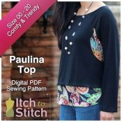 Itch To Stitch Digital Sewing Pattern Paulina Ad 300 x 300