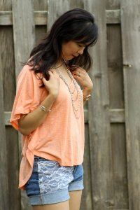 Flowy top for the summer Sandy a la Mode
