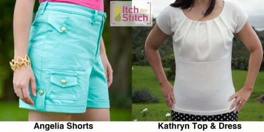 Itch to Stitch Pattern Releases - Angelia Short and Kathryn Top & Dress PDF Sewing Pattern