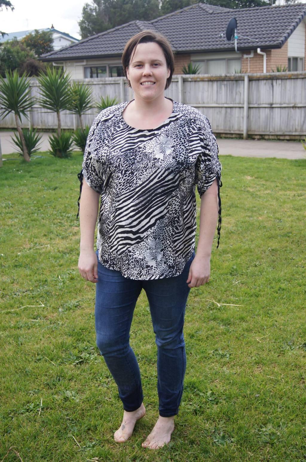 Caroline in her Carey Top - PDF Sewing Pattern