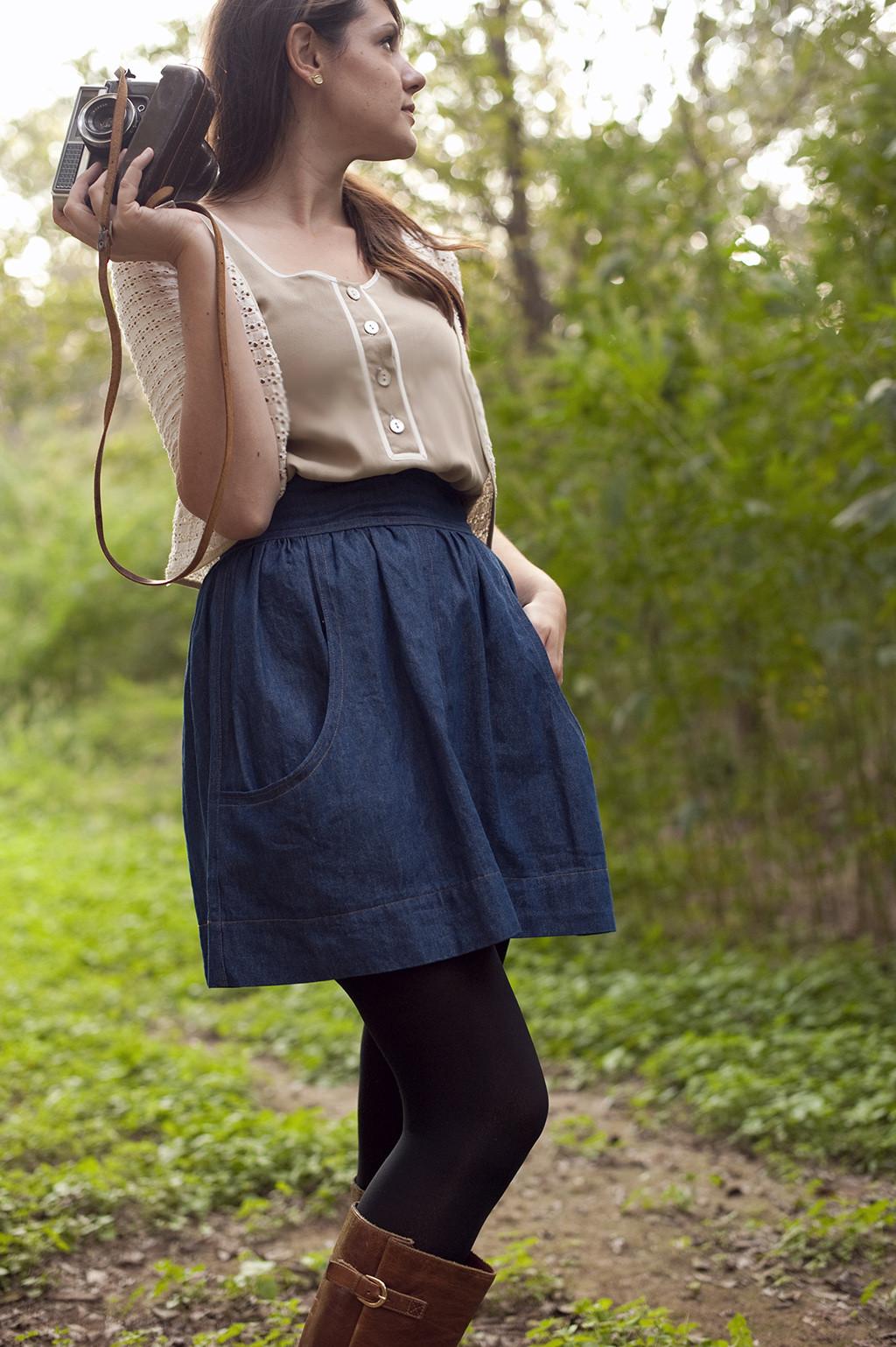 Itch to Stitch Birthday Celebration Featured Designer - Megan Nielsen - Brumby skirt