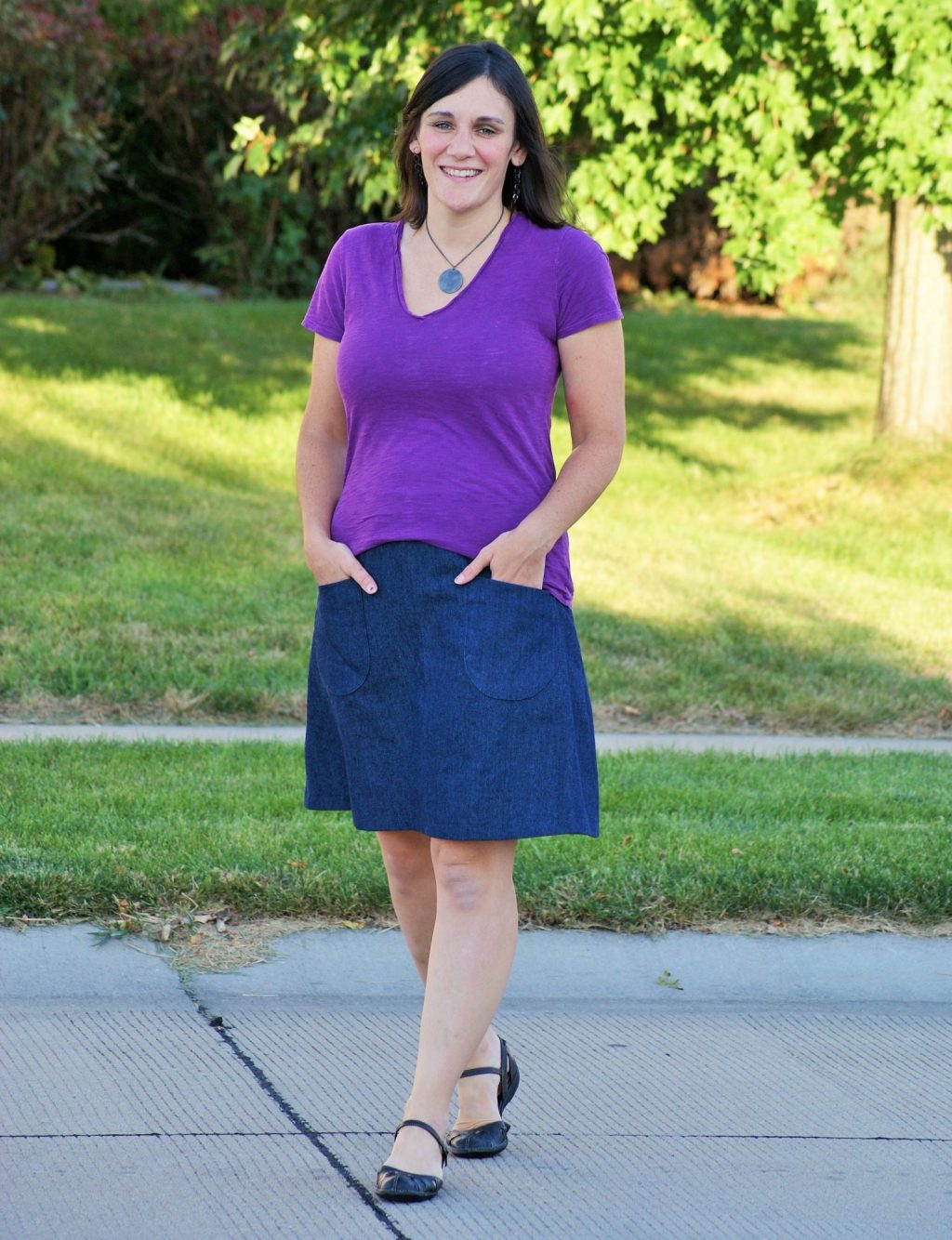 Itch to Stitch Birthday Tour - Shelly Sew Shelly Sew Emily Culottes