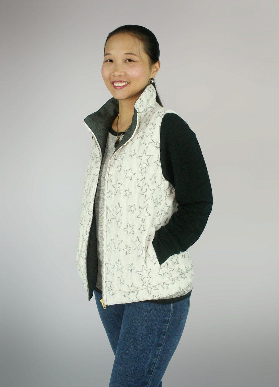 Dropje Hooded Vest Sewing Pattern