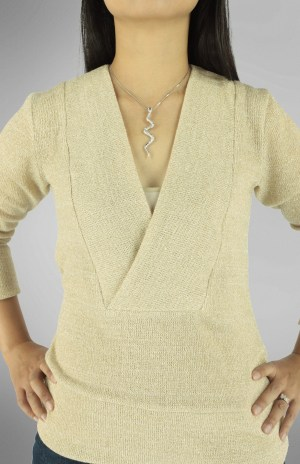Irena Knit Top PDF Sewing Pattern Front Close Up