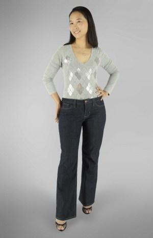 Liana Stretch Jeans PDF Sewing Pattern Straight Leg Option