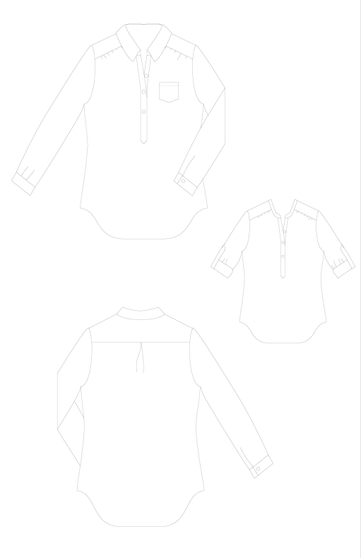 Mila-Shirt-PDF-Sewing-Pattern-Line-Drawings