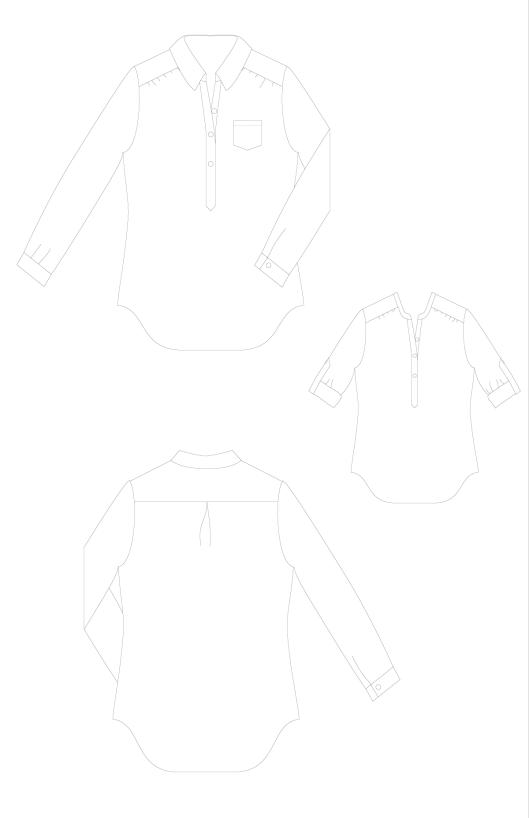 Mila-Shirt-PDF-Sewing-Pattern-Line-Drawings