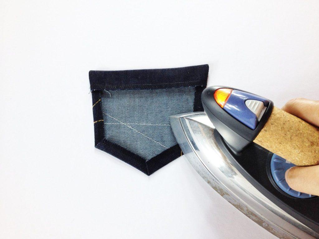 Liana Stretch Jeans Sewalong Day 6 Press seam allowances in