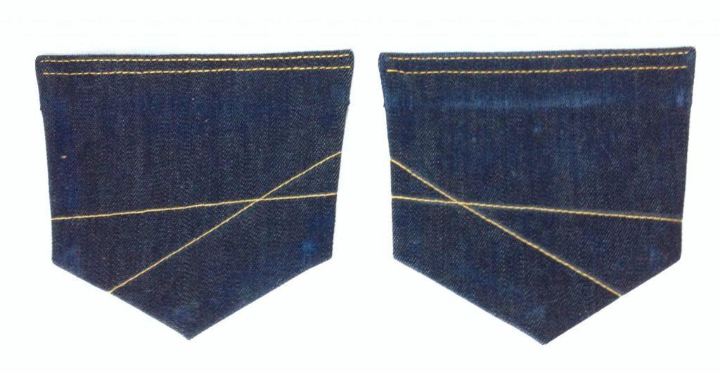 Liana Stretch Jeans Sewalong Day 6 Distress pocket and topstitch