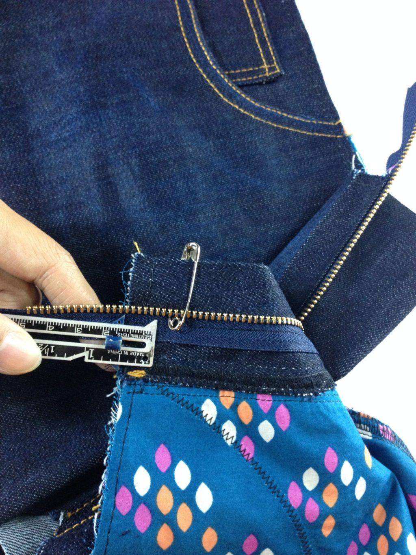 Liana Stretch Jeans Sewalong Day 8 Safety pin