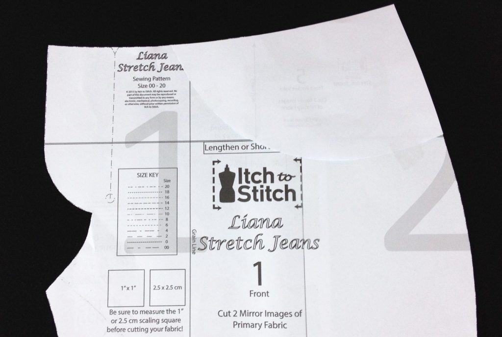 Liana Stretch Jeans Sewalong Day 3 Tape Front Pocket Yoke to Front