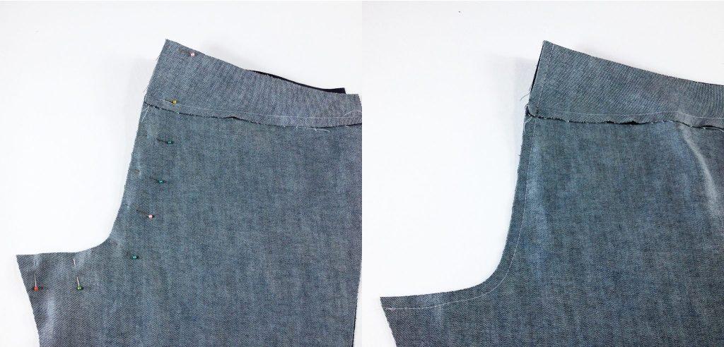 Liana Stretch Jeans Sewalong Day 4 Stitch back crotch