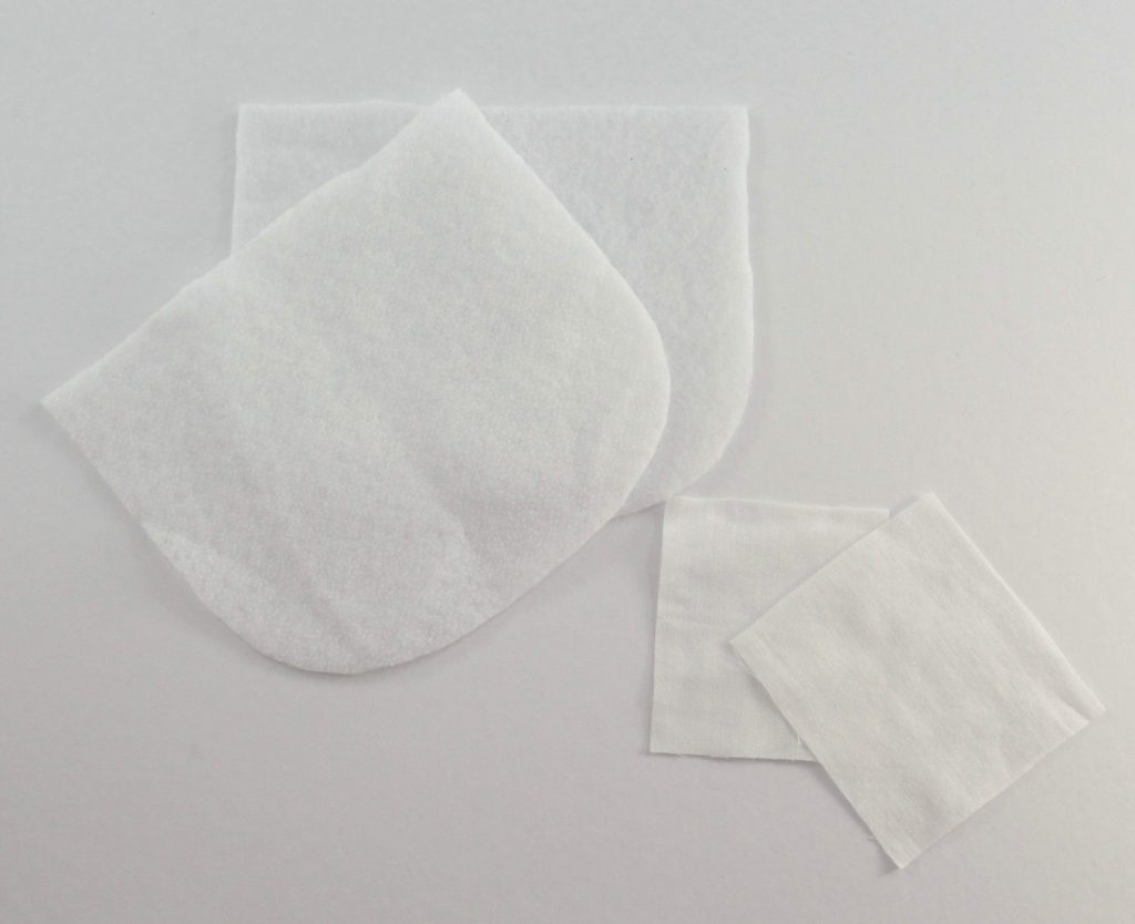 Two type of interfacing for the bag