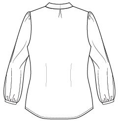Itch to Stitch Zamora Blouse Line Drawing Back