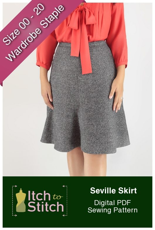 Itch to Stitch Seville Skirt PDF Sewing Pattern Product Hero